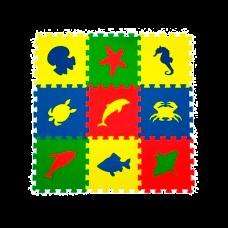 """Универсальный мягкий детский пол """"Морские животные"""""""